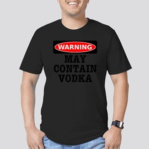 May Contain Vodka Men's Fitted T-Shirt (dark)