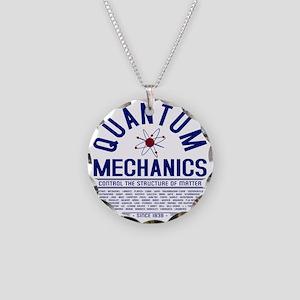 Quantum Mechanics Necklace Circle Charm