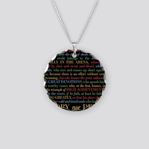 The Critic Necklace Circle Charm