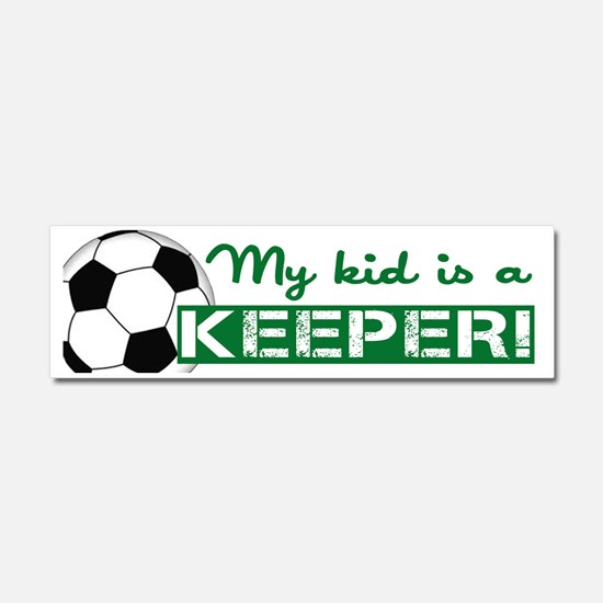 Proud Goalkeeper Parent  Car Magnet 10 x 3