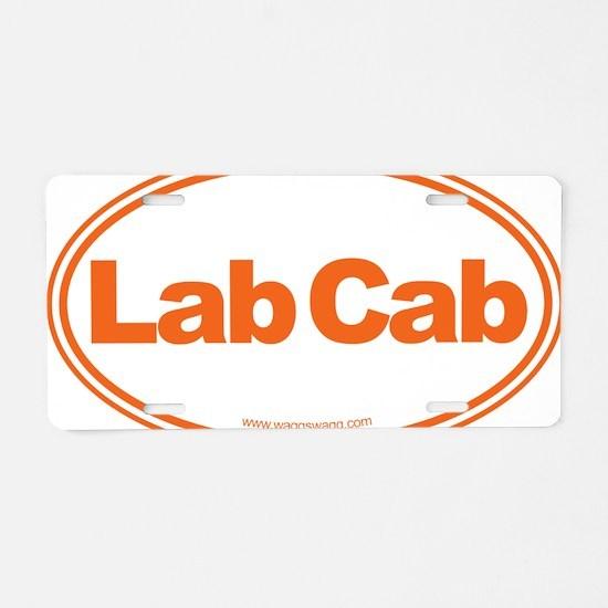 Lab Cab Orange Aluminum License Plate