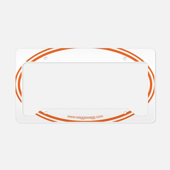 Lab Cab Orange License Plate Holder