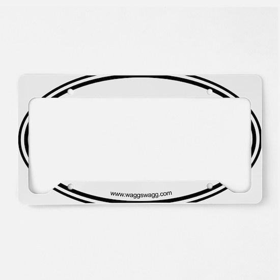 Peace Love Paws Black License Plate Holder