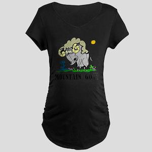 Cartoon Mountain Goat by Lo Maternity Dark T-Shirt