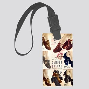 1930s Campus Queen Shoes Large Luggage Tag