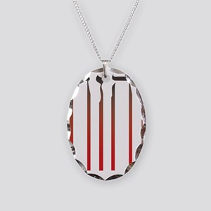 YHWH Bleed Necklace Oval Charm