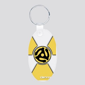 Detox Big Yellow iPhone Aluminum Oval Keychain