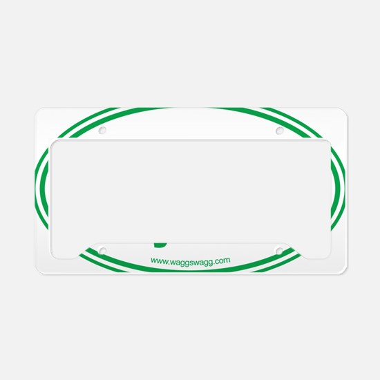 WOOF Yall Green License Plate Holder