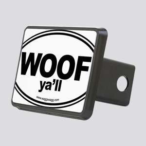 WOOF Yall Black Rectangular Hitch Cover