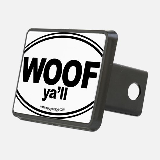 WOOF Yall Black Hitch Cover