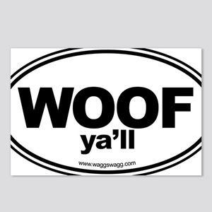 WOOF Yall Black Postcards (Package of 8)