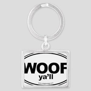 WOOF Yall Black Landscape Keychain