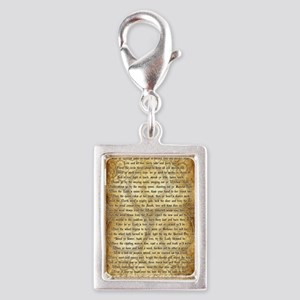Wiccan Rede Silver Portrait Charm