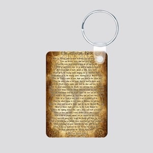 Wiccan Rede Aluminum Photo Keychain