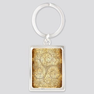 Wiccan Rede Portrait Keychain