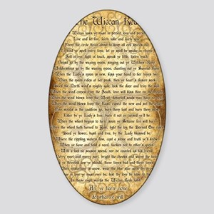Wiccan Rede Sticker (Oval)