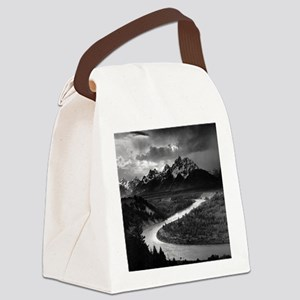 Ansel Adams The Tetons and the Sn Canvas Lunch Bag
