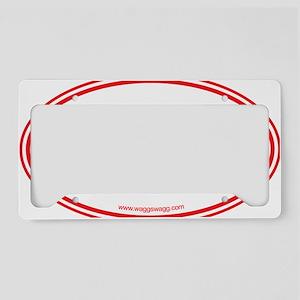 Dog Red License Plate Holder