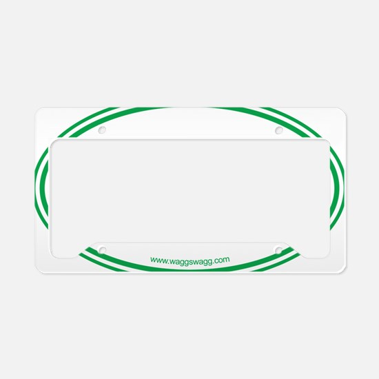 Peace Love Paws Green License Plate Holder
