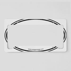 Lab Cab Black License Plate Holder