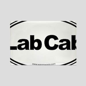 Lab Cab Black Rectangle Magnet