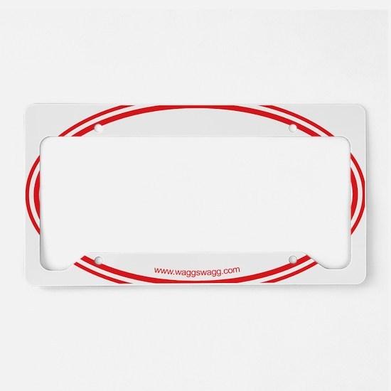 Lab Cab Red License Plate Holder