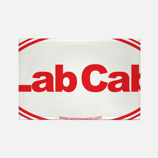 Lab Cab Red Rectangle Magnet