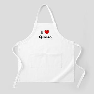 I love Queso BBQ Apron