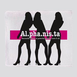 Alphanista; The Wonder Woman of 21st Throw Blanket