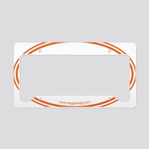 Hey Yall Wag On Orange License Plate Holder