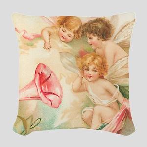 la_shower_curtain_kl Woven Throw Pillow