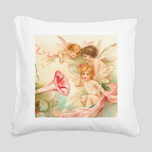 la_shower_curtain_kl Square Canvas Pillow