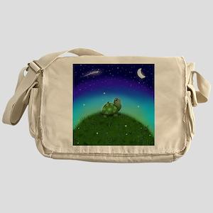 Turtle Moon and Stars Messenger Bag