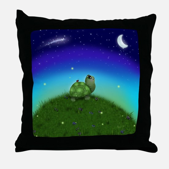Turtle Moon and Stars Throw Pillow