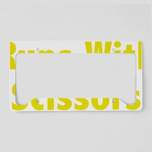 runsScissors4D License Plate Holder
