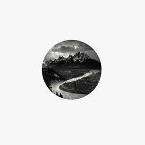 Ansel Adams The Tetons and the Snake R Mini Button