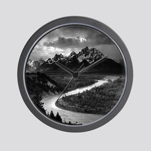 Ansel Adams The Tetons and the Snake Ri Wall Clock