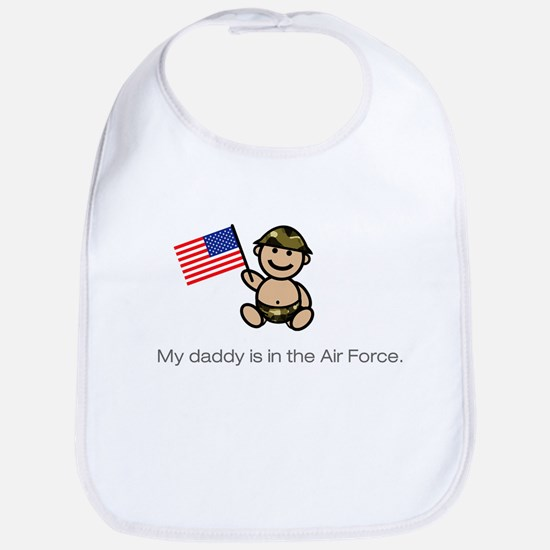 """My daddy is in the Air Force."" Bib (classic)"