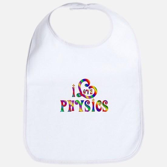I Love Physics Baby Bib
