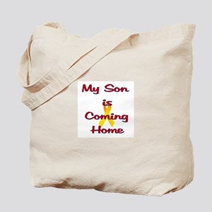 My son is coming home Tote Bag