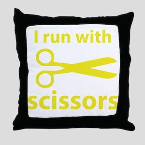 runsScissors2D Throw Pillow