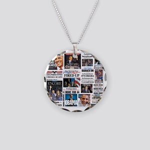 Obama Inauguration Necklace Circle Charm