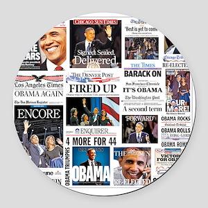 Obama Inauguration Round Car Magnet