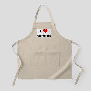 I love Muffins BBQ Apron