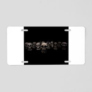 skull army Aluminum License Plate