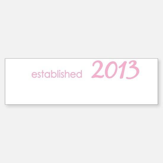 New Grandmom Est 2013 Sticker (Bumper)