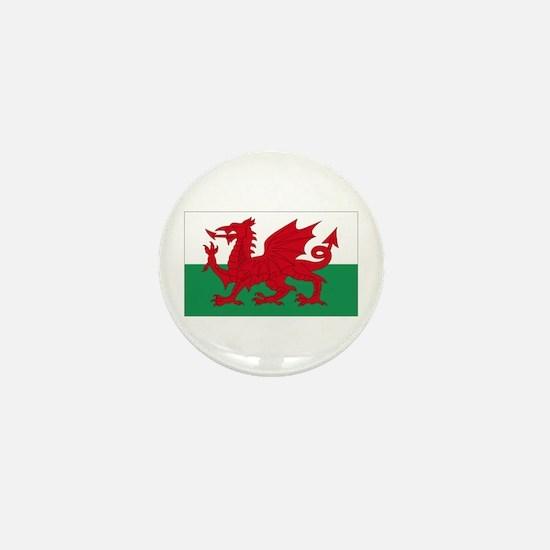 Wales flag decorative Mini Button