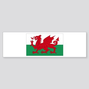 Wales flag decorative Sticker (Bumper)