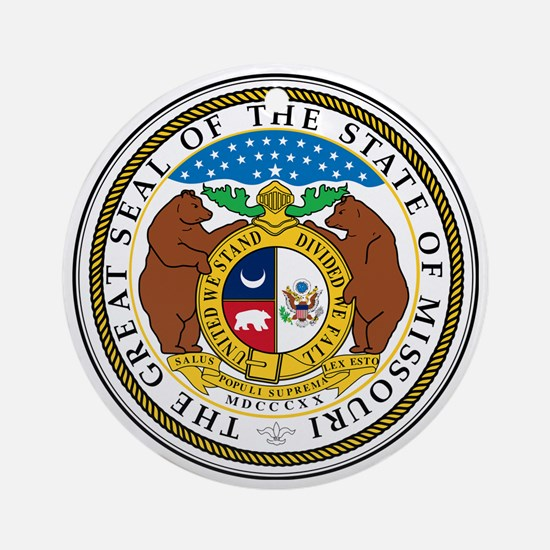 Great Seal of Missouri Round Ornament
