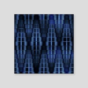 "Metallic Blue Design Square Sticker 3"" x 3"""